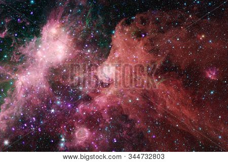 Nebula An Interstellar Cloud Of Stars Dust. Deep Space Image. Elements Of This Image Furnished By Na