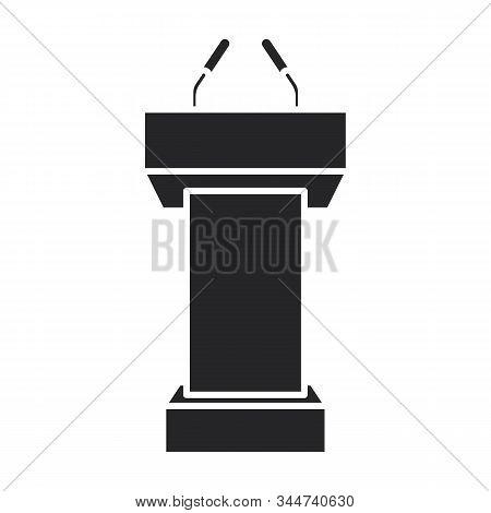 Podium Of Rostrum Vector Icon.black Vector Icon Isolated On White Background Podium Of Rostrum.