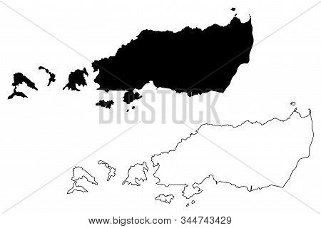 Diego Martin Region (regional Corporations And Municipalities, Republic Of Trinidad And Tobago) Map