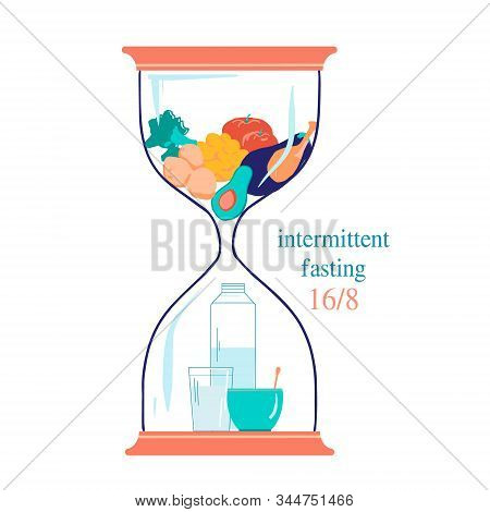 Concept For Intermittent Fasting16 8. The Hourglass Symbolizing The Principle Of Intermittent Fastin