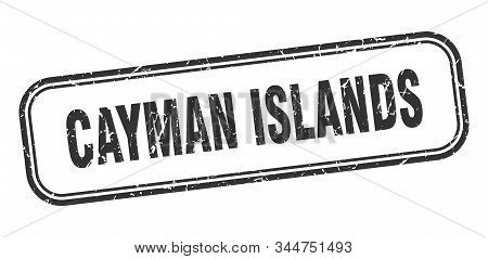 Cayman Islands Stamp. Cayman Islands Black Grunge Isolated Sign