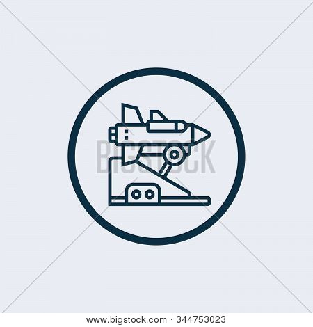 Missile Icon In Trendy Design Style. Missile Icon Isolated On White Background. Missile Vector Icon