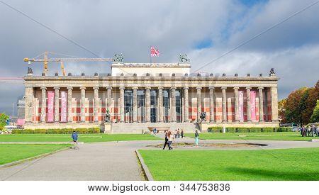 Berlin, Germany - September 21, 2015: Altes Museum, Old Museum, In Berlin. Germany