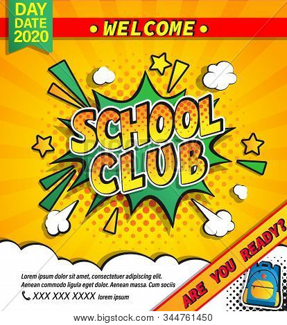 Kids School Summer Camp Banner.fest Activities And Sport Competitions In Summer Holidays.great Vinta