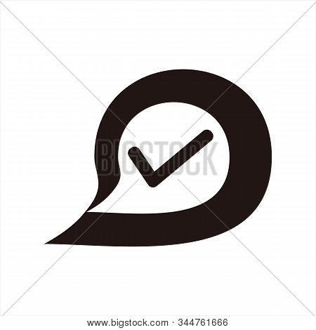Message Icon, Icon With A White Background. Simple Icon. Message Icon Combined With A Picture Of A T