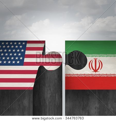 Iran United States Crisis Concept And American And Iranian Diplomacy As A Diplomatic Challenge With