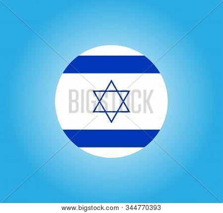Israel Flag. Official Flag Of Israel. Vector Illustration.