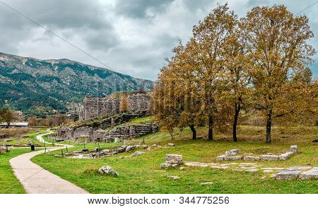 Dodona, In Epirus Greece Was The Oldest Hellenic (ancient Greek) Oracle. The Ruins Of The Big Ancien