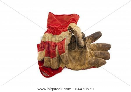 old work gloves