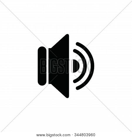Speaker Icon. Speaker Icon Vector Flat Illustration For Graphic And Web Design Isolated On White Bac