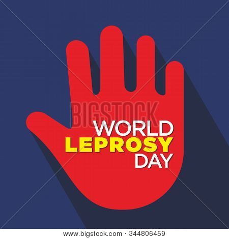 Illustration Of A Background For World Leprosy Day.