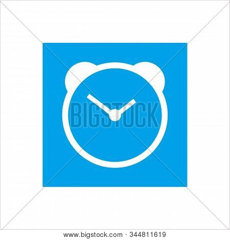 Clock Vector Logo For The Web, Applications And Icons With A White Background