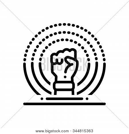 Black Line Icon For Ferguson Revolution Putsch Revolutionary