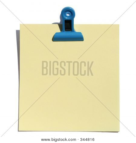 Note With Blue Clip