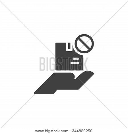 Delivery Status Unavailable Vector Icon. Filled Flat Sign For Mobile Concept And Web Design. Parcel