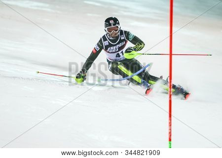Zagreb, Croatia - January 5, 2020 : Luke Winters From United States Competing On The 2nd Run During