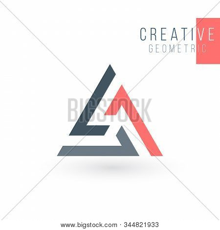 Geometric Triangle Unity Abstract Logo Design. Technology Business Identity Concept. Creative Corpor