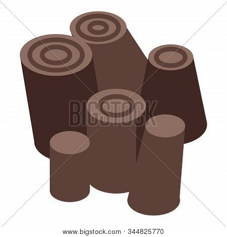 Tree Stump Stack Icon. Isometric Of Tree Stump Stack Vector Icon For Web Design Isolated On White Ba