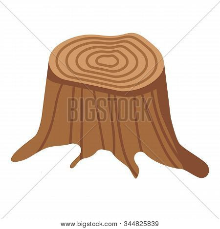 Section Stump Icon. Isometric Of Section Stump Vector Icon For Web Design Isolated On White Backgrou
