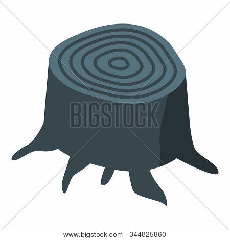 Black Stump Icon. Isometric Of Black Stump Vector Icon For Web Design Isolated On White Background