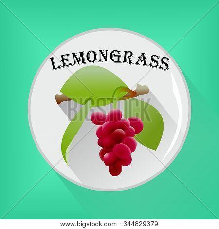Lemongrass Seasoning Sticker Flat Icon Vector Image