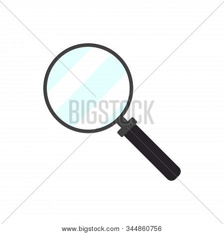 Magnify Icon. Magnifying Glass Icon, Vector Magnifier Or Loupe Sign. Search Vector, Magnifying Glass