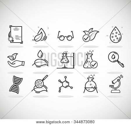 Set Of Icons For Different Medical Specialization. Anti-dandruff Flakes Free Icons. Hypoallergenic T