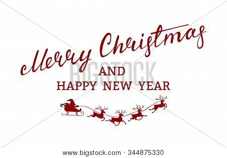 Merry Christmas Flying Red Santa Claus Red