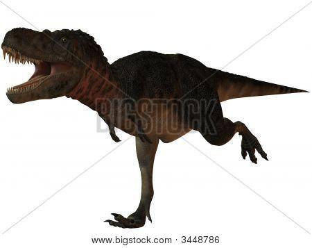 3 D Render of an Tarbosaurus Bataar-3D Dinosaur poster
