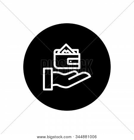 Wallet On Hand Business Icon Design Vector