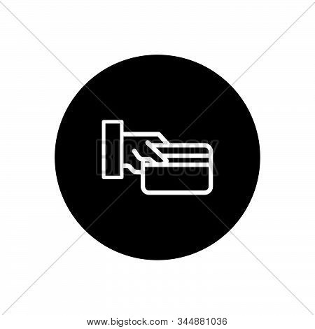Card On Hand Sign Business Icon Vector Illustration