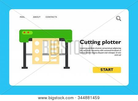 Icon Of Cutting Plotter Printer. Design, Peripheral, Device. Printer Concept. Can Be Used For Topics