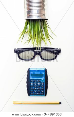 Accountant Concept Of Person Made From Office Objects From An Accounting Department