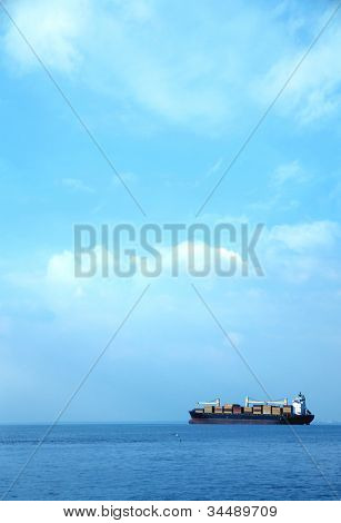 an image of a big ship on the sea