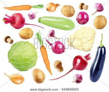Set Of Vegetables Isolated On A White Background