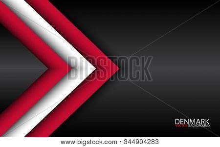 Modern Vector Overlayed Arrows With Danish Colors And Grey Free Space For Your Text, Overlayed Sheet