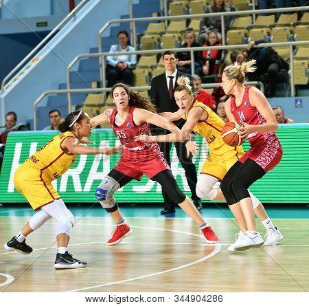 Orenburg, Russia – October 6, 2019: Girls Play Basketball.