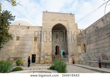 Baku, Azerbaijan - December 2019: The Palace Of The Shirvanshahs In Baku Old Town. The Place Is A 15