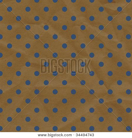 Blue And Brown Polka Dot Crumpled Paper