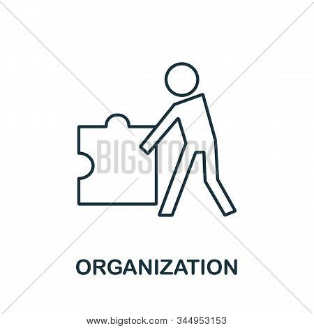 Organization Icon From Reputation Management Collection. Simple Line Element Organization Symbol For