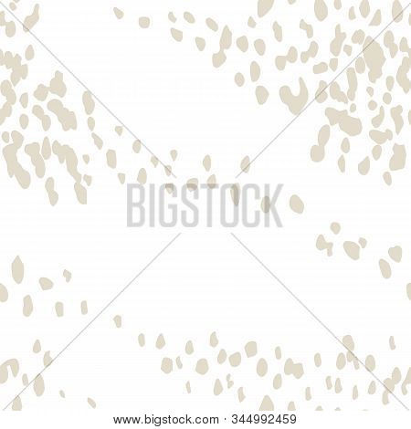 White And Beige Vector Seamless Check Pattern. Allover Pattern. Ink Grunge Grid. Hand Drawn Seamless