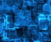 Network Technology Abstract Pattern Background in Blue poster