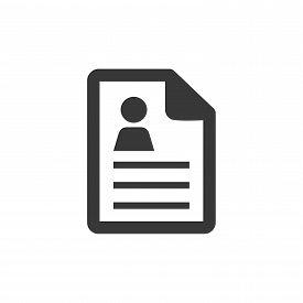 Text-lines Document Icon - Text-lines Document Isolated, Personal Information Illustration - Vector