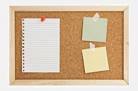 Notes On Cork Board.