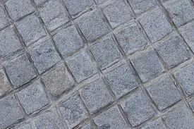 Texture And Background Of Brown Brick Floor.