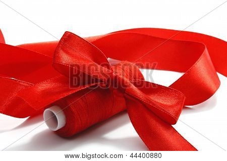 Red Bow And Threads