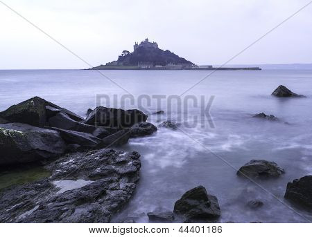 St Michael's Mount Bay Marazion Landscape Pre-dawn Long Exposure