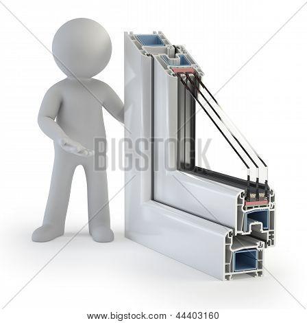 3D Small People - Plastic Window Profile
