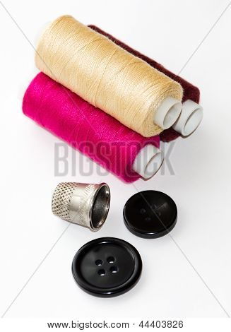 Sewing Supplies On The Light Background