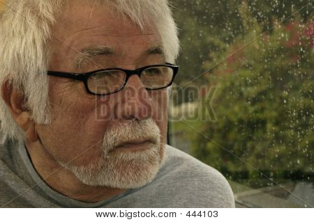Man Contemplates Life